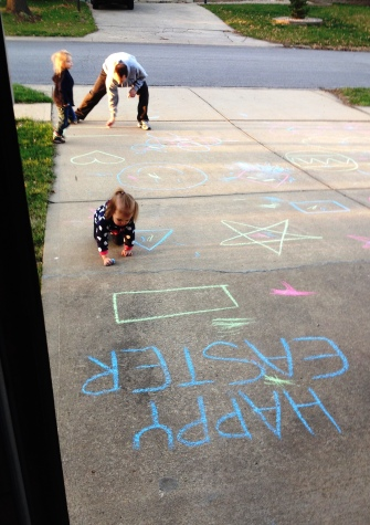 easter chalk