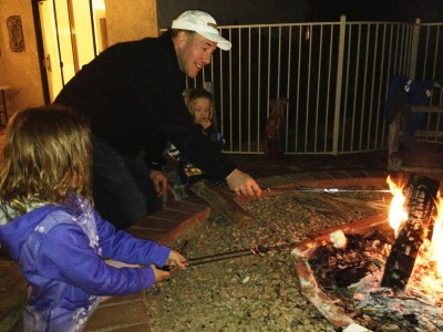 s'mores with g-pa